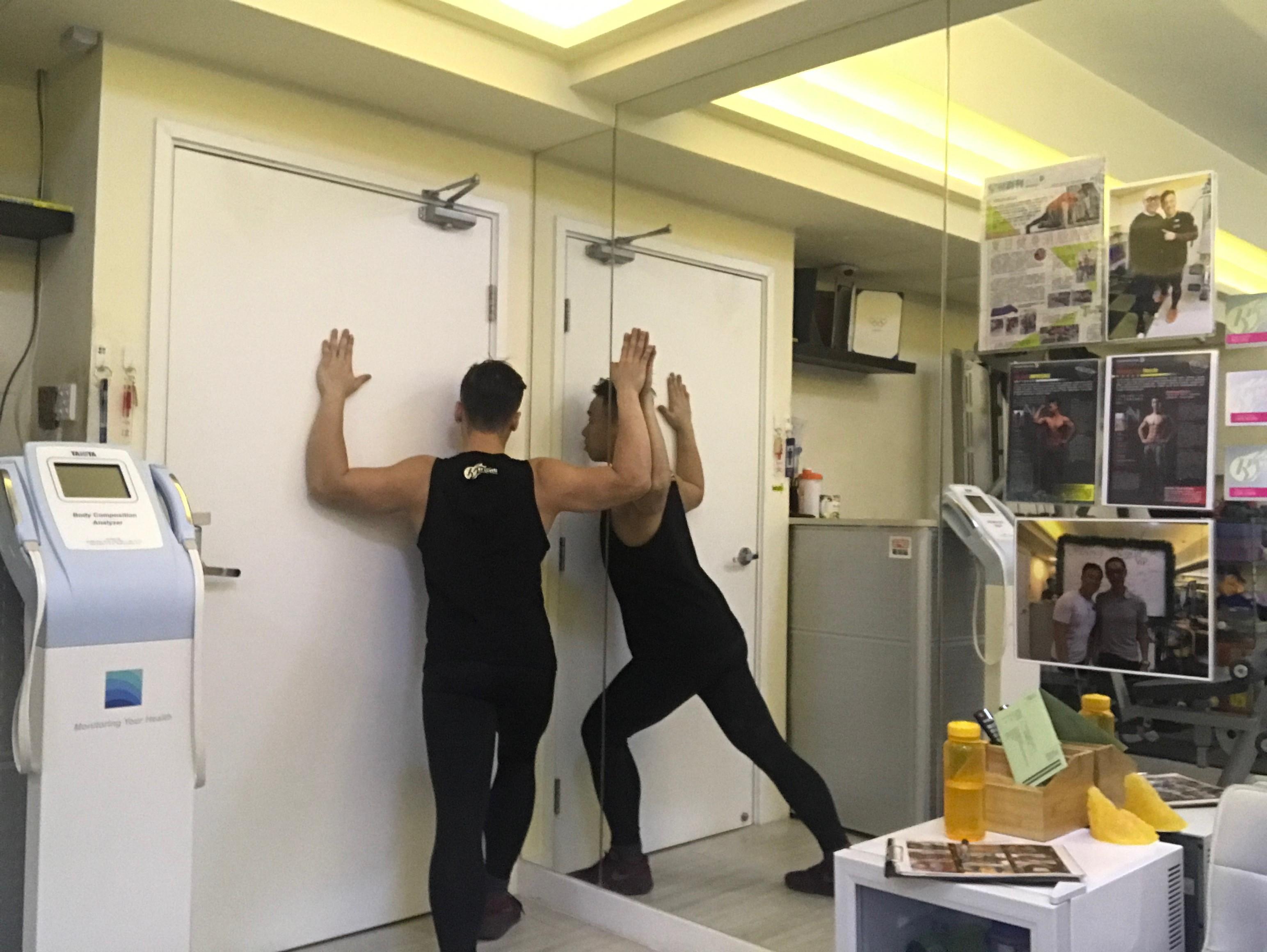 五十肩治療伸展運動