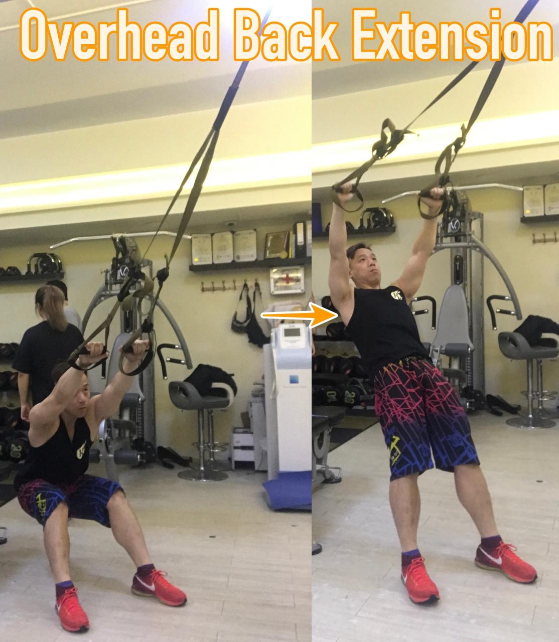 TRX訓練動作 Overhead Back Extension